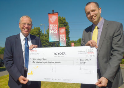 Toyota GB £1800 Donation Cheque Presentaion